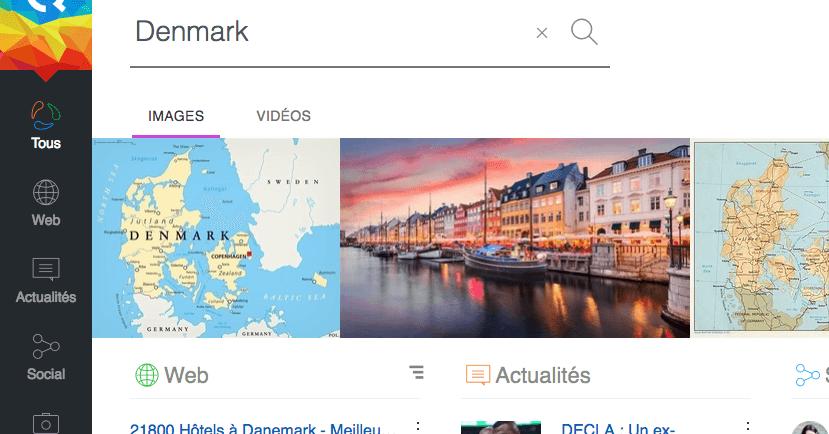 Qwant has no map service