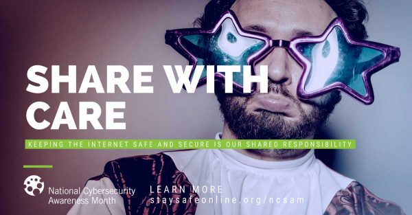 Share with care - think before you post #cyberaware